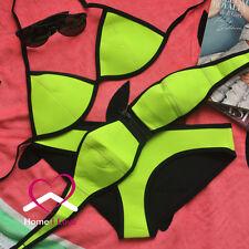 High Quality Neoprene Fluro Yellow Bikini set – Two Matching Tops