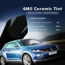 "5%VLT 4 mil Nano Ceramic Solar Tint Grey Window Tint Anti-UV Glass Film wide 35"""