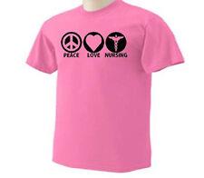 Peace Love Nursing Nurse Nurses Medical Occupation T-Shirt