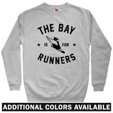 The Bay Area is for Runners Men's Sweatshirt - Crewneck S-3X - RUN BAY Running