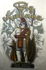 Hawaiian Big Kahuna King Tradition Surfer Big Dogs White XLarge 2X 3X Cotton NEW