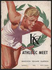 1952 Annual K of C Indoor Athletic Meet Program, NYC