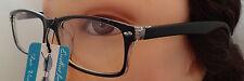 New Mens Womens Black Horn-Rimmed Modern Lightweight Reading Glasses Clear Lens