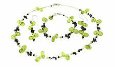 Semipreciosa Piedra preciosa Collar,Pulsera & juego de pendientes Ver