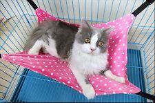 Hammock Swing Bed for Puppy Cat Kitten  Ferret Bunny Rabbit Rat Small Animals