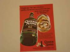 advertising Pubblicità 1972 SCOTCH WHISKY QUEEN ANNE