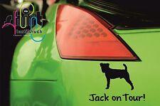 A 615 - Jack Russel Terrier on Tour Hund Hundeaufkleber Aufkleber Autoaufkleber