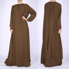 Islamic Clothing Women Long Sleeve Abaya Kaftan Dubai Muslim Maxi Casual Dress