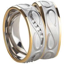 Anello FEDINE fedi anelli di fidanzamento fedi in acciaio inox argento incisione AB