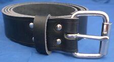 Pelle Nera Cintura scelta di larghezze e fibbie HAND MADE 100% VERA PELLE