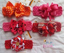 Janie Bows Headbands - Baby Kid Girl Soft Elastic Hair Bands - Hair Accessories
