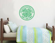 Celtic Football Club Crest & Wall Sticker Set Official Merchandise Decalcomania FOOTBAL