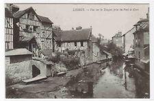 Vue Sur La Touques prise du Pont de Caen Lisieux France postcard