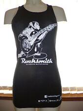 Canotta a costine nero Rocksmith Monkey suonare la chitarra Varie Taglie SPEDIZIONE GRATUITA