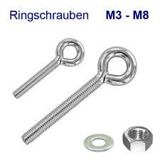 Edelstahl V4A metrisch M6 6x10mm Ringschraube Ringbolzen // Augbolzen // Öse