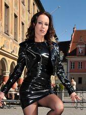 Lackjacke verni veste noir biker veste brillant vinyl taille 32 - 58 xs-xxxl