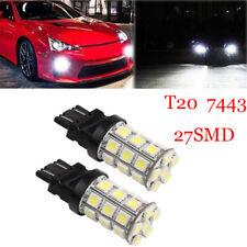 2PCS T20 W21/5W 7443 27SMD 5050 LED Signal Stop Brake Tail Light Reverse Lamp
