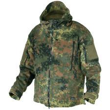 Helikon Army Tactical Hooded Double Fleece Military Combat Jacket Flecktarn Camo