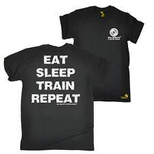 FB Gym Bodybuilding Tee - Eat Sleep Train - Novelty Birthday Mens T-Shirt