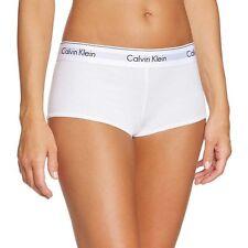 Calvin Klein Underwear CK Womens Modern Cotton Short, White Stretch Cotton Modal