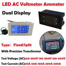 AC 500V 500A LED Voltmeter Ammeter Dual Display Volt Tester Meter Multi-models