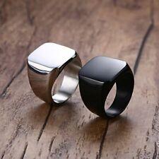 Unisex Men Women Ring Polished Band Biker Signet Silver Ring Gift Size 7-12 HOT