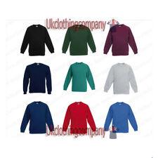 Fruit Of The Loom Children's Premium Raglan Sweatshirt Kids Unisex Jumper 3-13