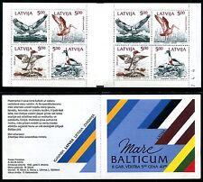 Latvia 335a 778a, MNH, 1992, Birds Booklet. x10147