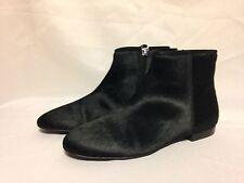 Delman  Mason Ankle Boot 6 M Black Haircalf   New w/Box