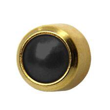 Studex plus GOLD PLATED Black Onyx Ear Piercing Orecchini impostazione lunetta