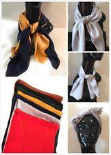 Big Square Faux Silk Thin Head Neck Bag Scarf Charm - 70cm x 70cm