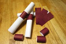 Burgundy Red Self-Adhesive Paper Napkin Rings/Bands