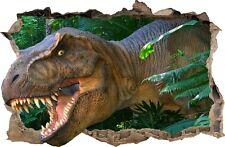 Adesivi Murali Buco nel muro Dinosaur Tyrannosaur decorazioni murali 59