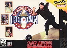 Brunswick World Tournament of Champions Super Nintendo Entertainment System SNES