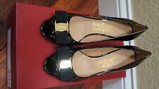 $650 NIB Salvatore Ferragamo Peep Toe Wedge Pumps Sissi Heel 5.5C 6.5C 7.5C 8.5C