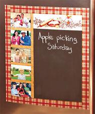 Country Chalk Board Photo Holder Frame Fridge Magnet Sunflower Americana Berries
