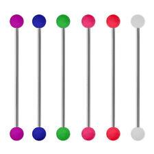 Piercing barre industriel 1,6X5 mm 5 longueurs de tige 6 couleurs aux choix