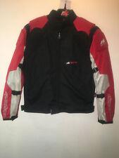 RK Deportivo vista Rojo Negro Gris Verano Textil Corto Chaqueta moto motocicleta