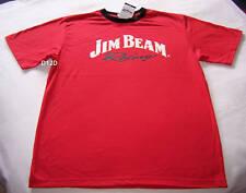 Jim Beam Racing Logo DJR Mens Red Printed T Shirt Size L New