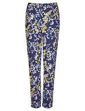 M&S Per Una Leaf Roma Rise Tapered Leg Trousers Sz 12 short 10 12 16 20 regular