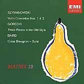 Violin Concertos 1 & 2 by Szymanowski, Karol, Gorecki, Henryk, Baird, Tadeusz,