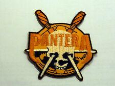 ROCK PUNK METAL MUSIC SEW/IRON ON PATCH:- PANTERA SKULL & CROSSED SWORDS