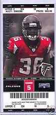 Atlanta Falcons New York Giants Full Ticket 10/15/07