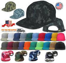 5 Panel Solid Camo Biker Strap-back Adjustable Leather Cadet Cap Hat JLGUSA