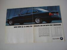 advertising Pubblicità 1990 BMW SERIE 5