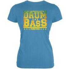 Drum And Bass Forever Aqua Juniors Soft T-Shirt
