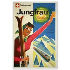 Jungfrau Switzerland Travel Vintage Poster Car Vinyl Sticker - SELECT SIZE