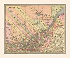 International Map - Quebec Province - Cram's Atlas 1888 - 27.66 x 23
