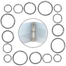 Split Rings Metal Loop Hook O Ring Silver Keychain Hinged Book Binder Album Ring