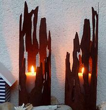 maritimes Windlicht Treibholz Fackel toller Schattenwurf 2 Grö Edelrost Metall